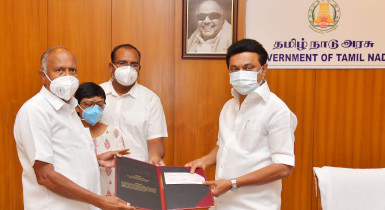 Saveetha Institute of Medical and Technical Sciences Contributes Rs 1 Crore To CM's Public Relief Fund